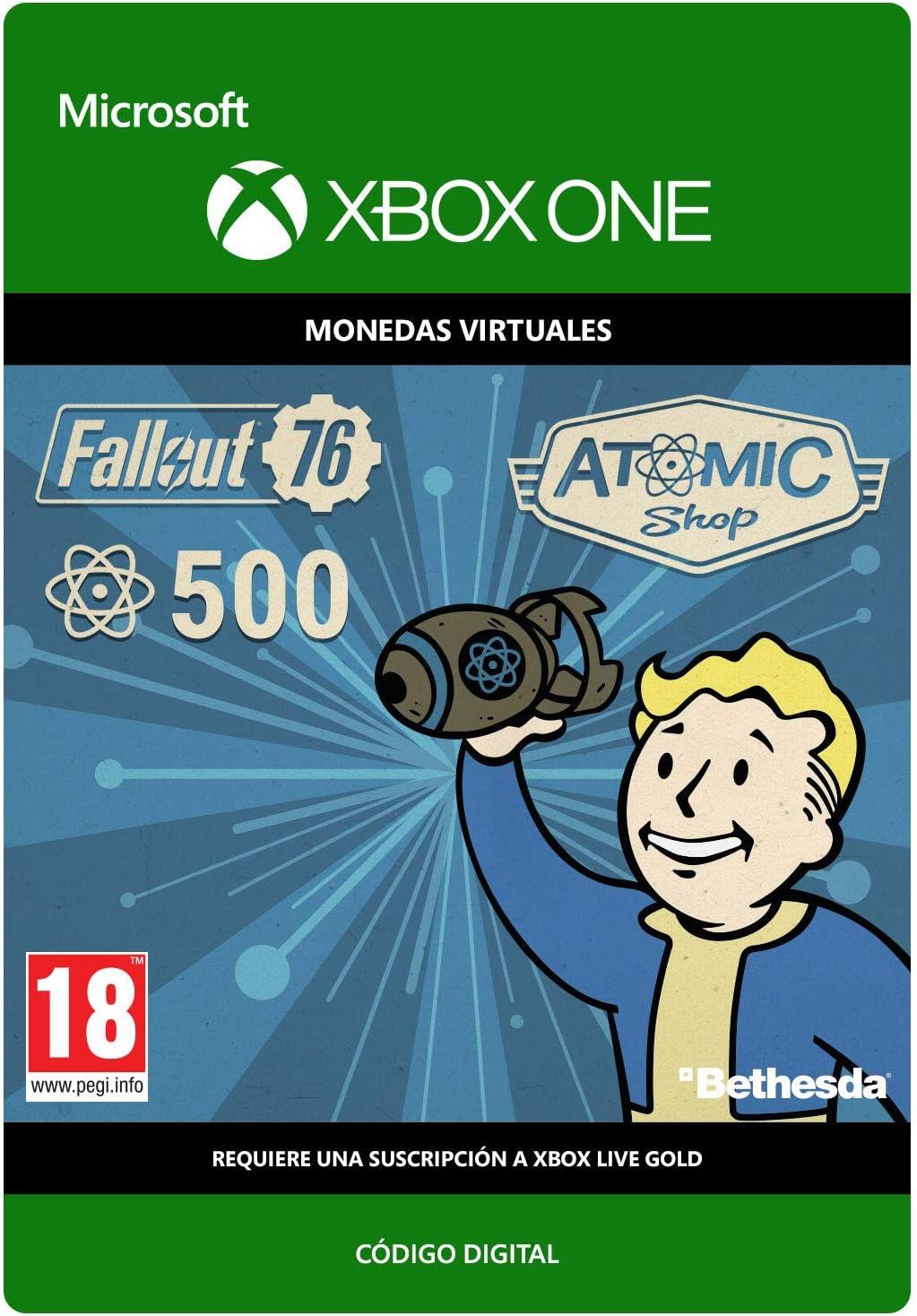 Fallout 76: 500 Atoms   Xbox One - Código de descarga: Amazon.es ...