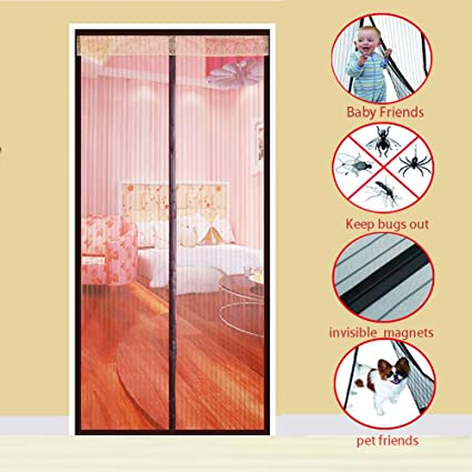 Magnetic screen door, Heavy duty Mosquito curtain Self ...