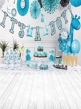 Amazoncom Leowefowa 5x6ft Boys Birthday Backdrop Its A