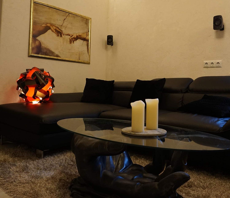 Lampe puzzle xl 45 cm abat-jour lampadaire design d/éco jaune