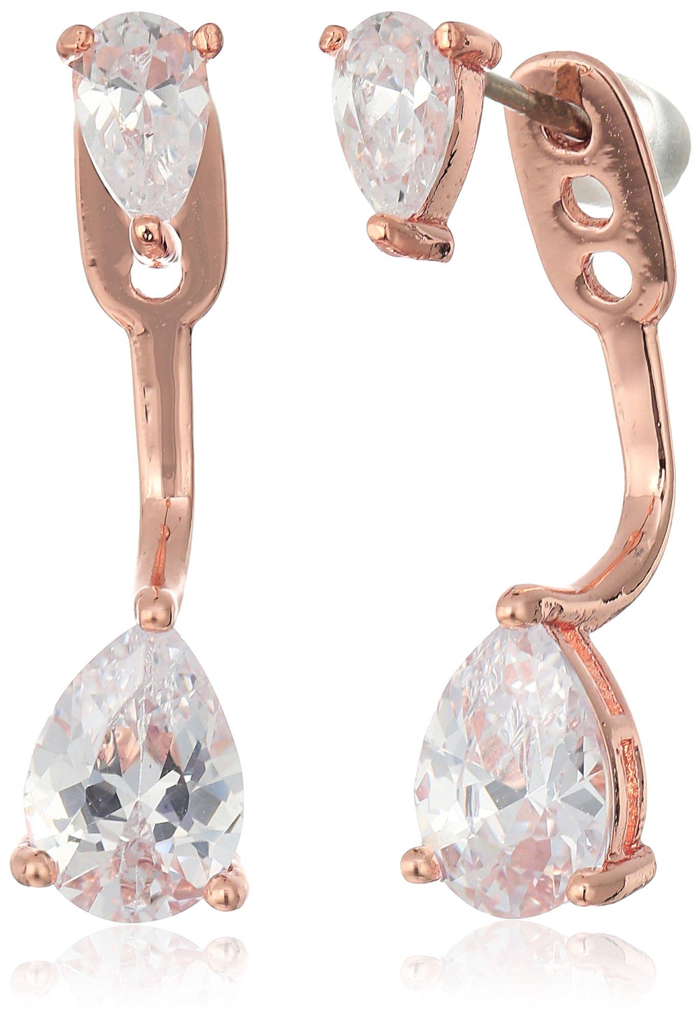 SHASHI''Asa'' Whitney Rose Gold Earrings Jacket