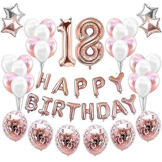 18 Globos de decoración para cumpleaños, decoración número 18 ...