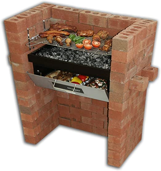 Construido en – parrilla de barbacoa y horno con horno y parrilla de barbacoa: Amazon.es: Jardín