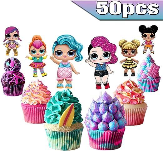 Swell Amazon De Lol Cake Toppers Lol Cupcake Toppers 50 Stuck Lol Funny Birthday Cards Online Alyptdamsfinfo