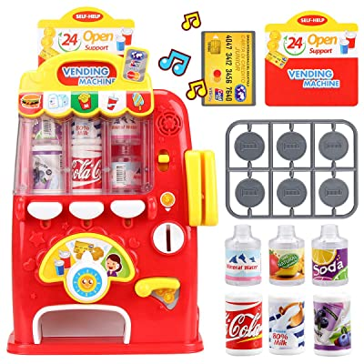 FS Interactive Vending Machine Game, Pretend Play Electronic Drink Machines, Early Developmental Toy, Develop Common Sense of Life, Fun Gift for Age 3, 4, 5, 6, 7, 8 Years Old Kids, Boys, Girls: Toys & Games