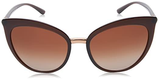 DOLCE&GABBANA 0DG6113 315913, Occhiali da Sole Donna, Marrone (Transparent Brown/Browngradient), 55