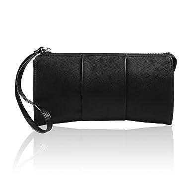 Becko Women Wallet and Purse Long Clutch Butterfly Handbag Card Holder -  Black 09e11a03ae