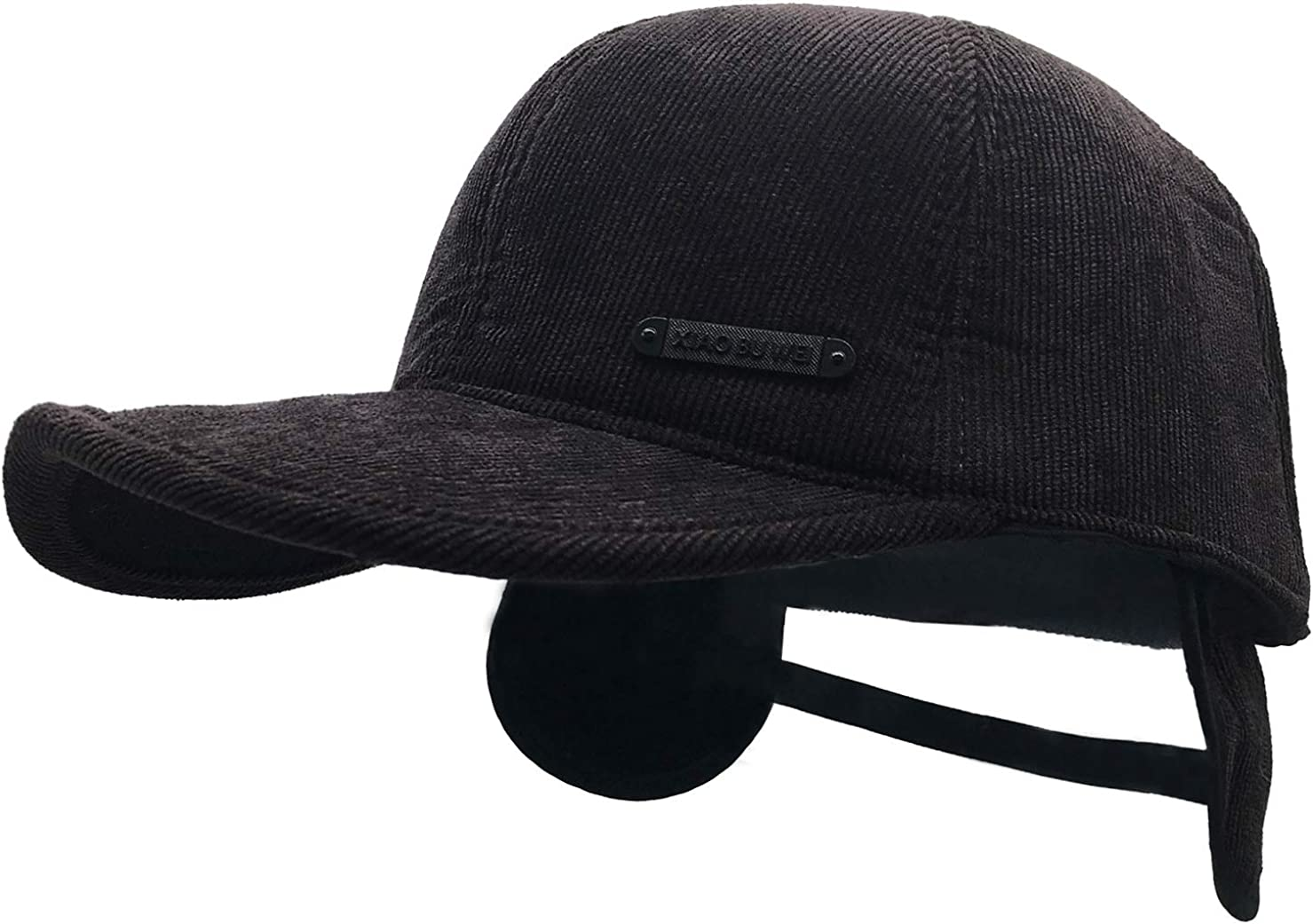 Pyrafox Adjustable Winter Earflap Aviator Hats Fleece Lined Cold Weather Visor Baseball Cap