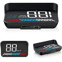 Car Head Up Display, Car Truck OBD2 HUD GPS Speedometer, iKiKin M7 Dual Mode Windshield Projector Car HUD Display for…