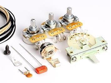 Amazon.com: ToneShaper Guitar Wiring Kit, For Fender Stratocaster ...