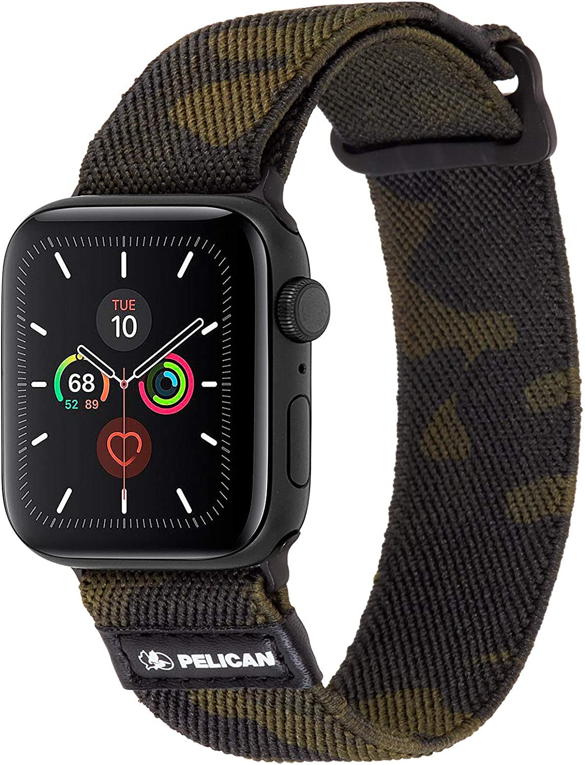 Pelican - Protector Series - Watch Band for Apple Watch Series 1/2/3/4/5-38-40mm - Camo Green