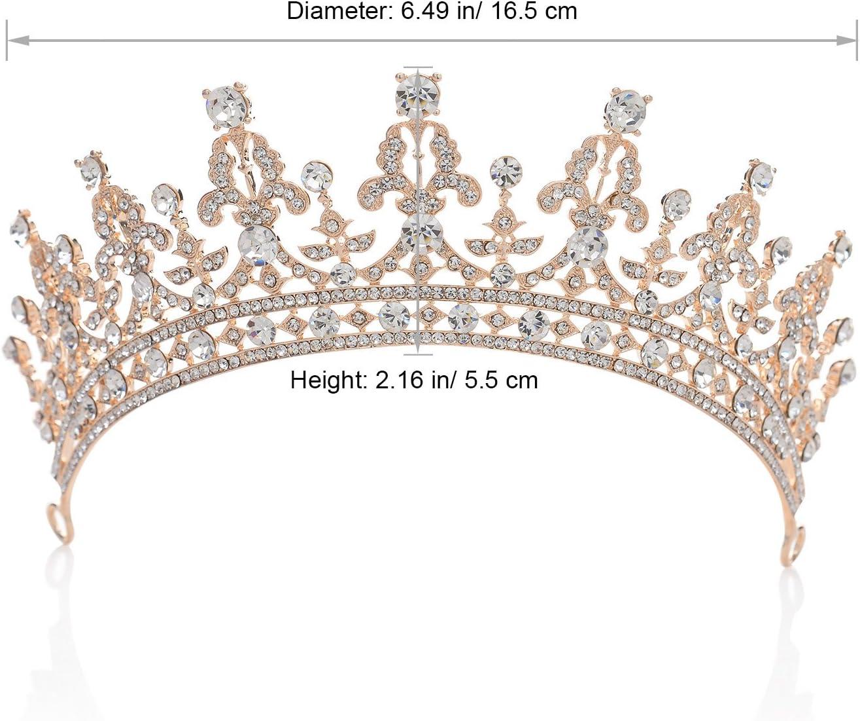 un accessoire de cheveux pour la mari/ée ou pour les concours de beaut/é Argent Couronne royale orn/ée de zircon cubique cristal fabriqu/é par SWEETV pour femme