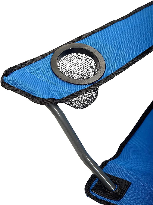 Ducomi Yosemite sillas de playa y playa Silla plegable de camping Sill/ón exterior para pesca y camping con bolsa transportable plegable con reposabrazos ligera porta bebidas y smartphone