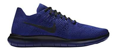 best service 51a2d 2d659 Image Unavailable. Image not available for. Colour  Nike Mens Free RN  Flyknit 2017 Gyks (Deep Royal Blue Black) 11.5