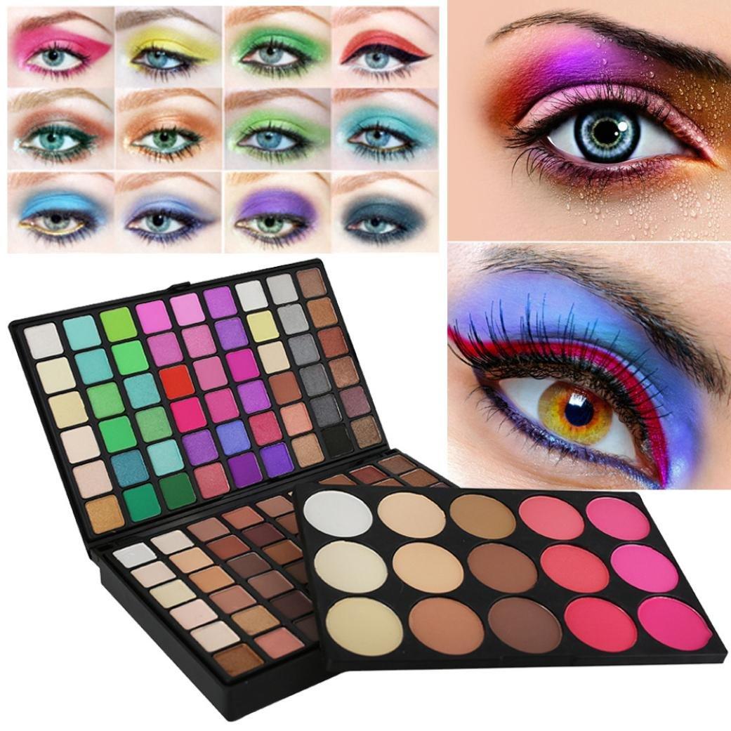 Ecosin 123 Colors Cosmetic Matt Shimmer Powder Eyeshadow Palette Set