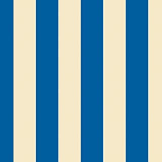 product image for WallCandy Arts Removable Wallpaper, Stripes Blue/Cream