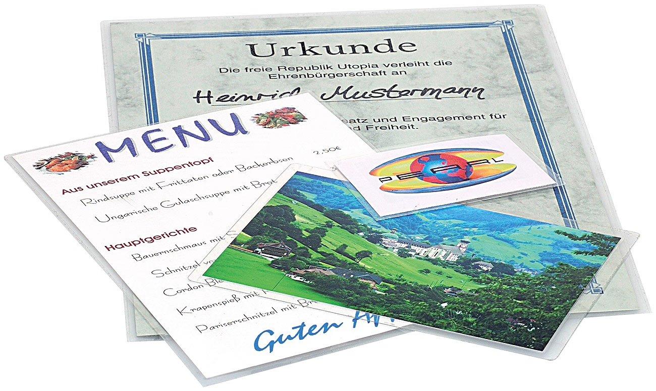 General Office Kalt Laminierfolien Kaltlaminieren f/ür Visitenkarten Sparpack Kalt-Laminiertaschen f/ür 20 Bl/ätter DIN A4
