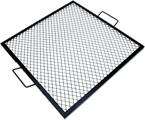 onlyfire X-Marks Square Fire Pit Cooking Grate, 36-Inch