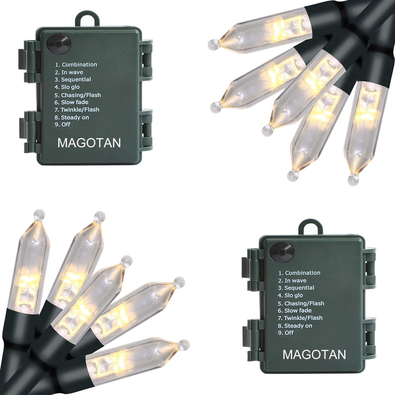 Details About Outdoor String Lights Christmas Lights Magotan 50 Led Battery Operated String