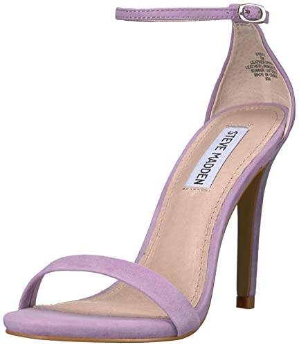 3813920b6f Steve Madden Women's Stecy Heeled Sandal, Lavender Suede, ...