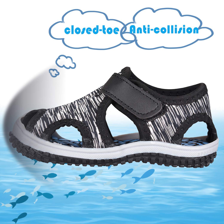JACKSHIBO Girls Boys Closed Toe Sandal Toddler Water Sandals Indoor Outdoor Lightweight Summer Shoes
