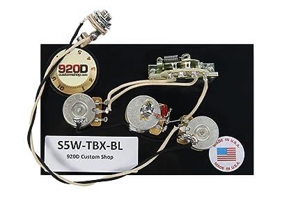 amazon com 920d fender strat stratocaster wiring harness tbx and Fender Strat Wiring Diagram 920d fender strat stratocaster wiring harness tbx and blender pot