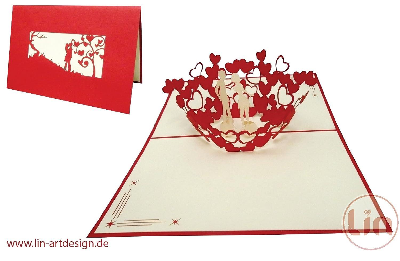 Lin pop up cards, wedding cards, wedding invitations, valentine ...