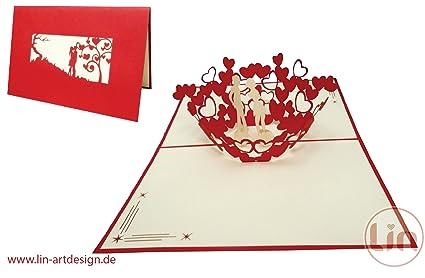 Amazon lin pop up 3d greeting cardswedding greeting cards lin pop up 3d greeting cardsquotweddingquot greeting cards wedding wedding invitation m4hsunfo