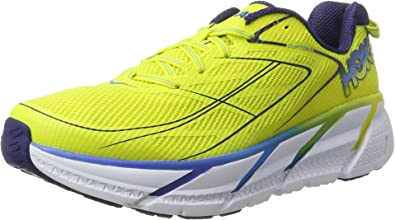 Hoka One One Clifton 3, Zapatillas de Running para Hombre, Amarillo (Citrus/Dresden Blue), 43 1/3 EU: Amazon.es: Zapatos y complementos