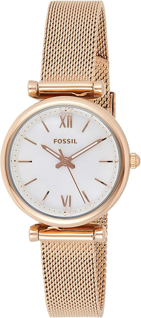 Fossil Women's Carlie Mini Stainless Steel Mesh Casual Quartz Watch