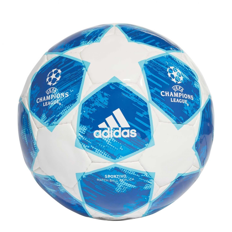 Adidas finale18SPOR, balón Unisex–Adulto, Blanco/fooblu/brcyan, 5 balón Unisex-Adulto CW4132