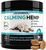PetHonesty Hemp Calming Treats for Dogs - All-Natural Soothing Snacks with Hemp + Valerian Root, Stress & Dog Anxiety Relief - Aids with Thunder, Fireworks, Chewing & Barking