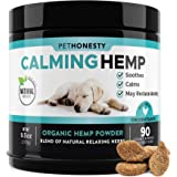 PetHonesty Hemp Calming Treats for Dogs - All-Natural Soothing Snacks with Hemp + Valerian Root, Stress & Dog Anxiety Relief