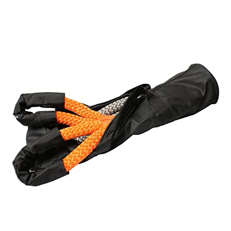 """ABN Tow Strap with Steel Clip Hooks 2/"""" Inch x 20/' Foot Vehicle Recovery Rope 10,000 lbs Pound Capacity Recovery Strap"""