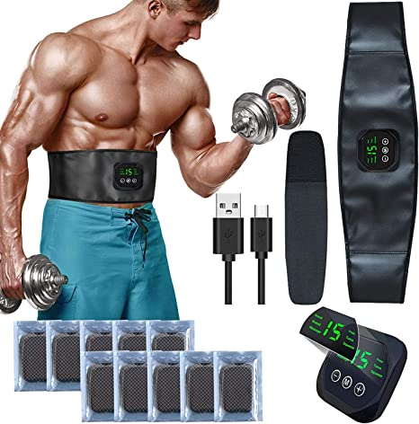 EMS Electronic Muscle Stimulator Gel Toning Belts Pads Replacements Stickers UK