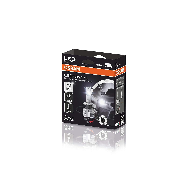 /última generaci/ón juego de 2 estuche Osram LEDriving HL c/ódigo correspondiente ECE H4 9726CW blanco fr/ío proyector LED 12//24V sustituci/ón hal/ógena 2 bombillas