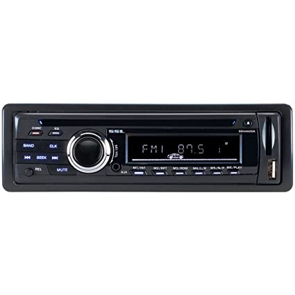 SSL SD445USA In-Dash Single-Din DVD/CD/USB/SD/MP4/MP3 Player Receiver with  Remote (Discontinued by Manufacturer)