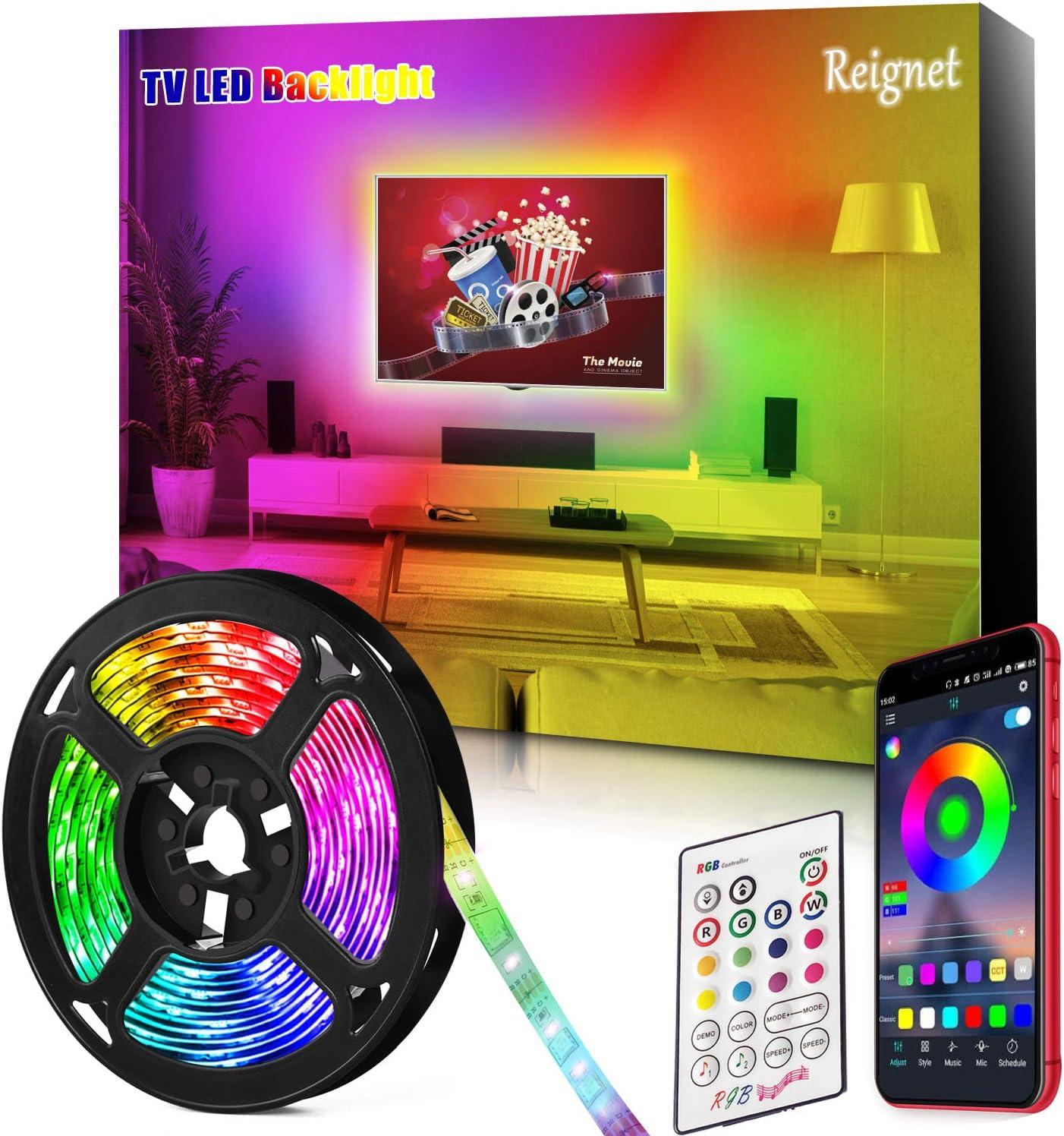 Tira LED TV, 3.5M para TV de 46-65 pulgadas, Mirror, PC, Control ...