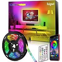 Tira LED TV, 3.5M para TV de 46-65 pulgadas, Mirror, PC, Control de mñusica e iluminación a través de APP, Tira de luz…