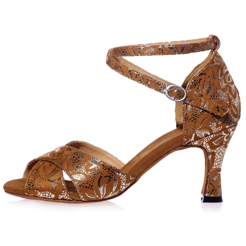 Elobaby Frauen Tanzschuhe BT-698 Peep Toe Salsa Handgemachte Jazz Latin Latin Latin Toe Kätzchen High Heels (7,5 cm Ferse) 806013