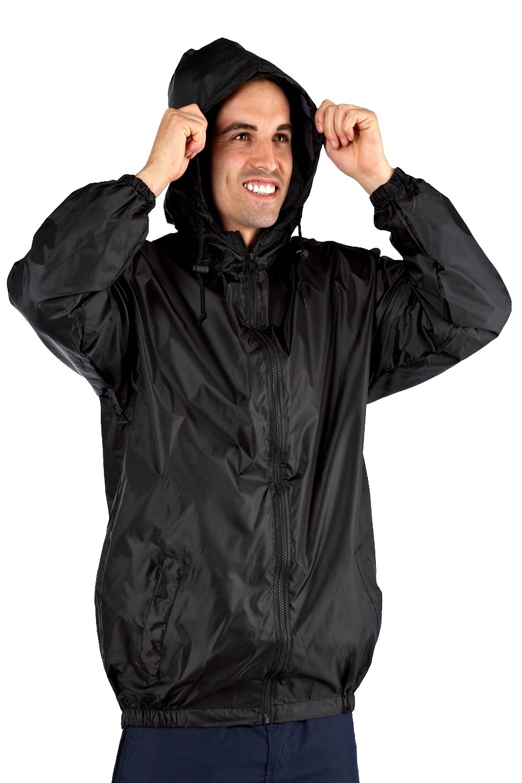 ProClimate Mens Pack-A-Kag Festival Coat Black - Medium