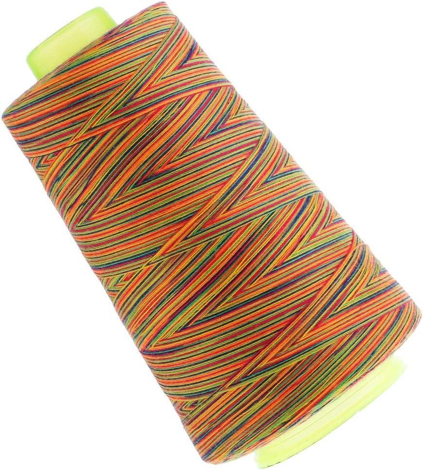 comme d/écrit ci-dessus Durable et utile 4 Ogquaton 1 rouleau de fil de machine /à coudre /à surjeter en polyester 40S 2 pour jeans pour tapis de rembourrage