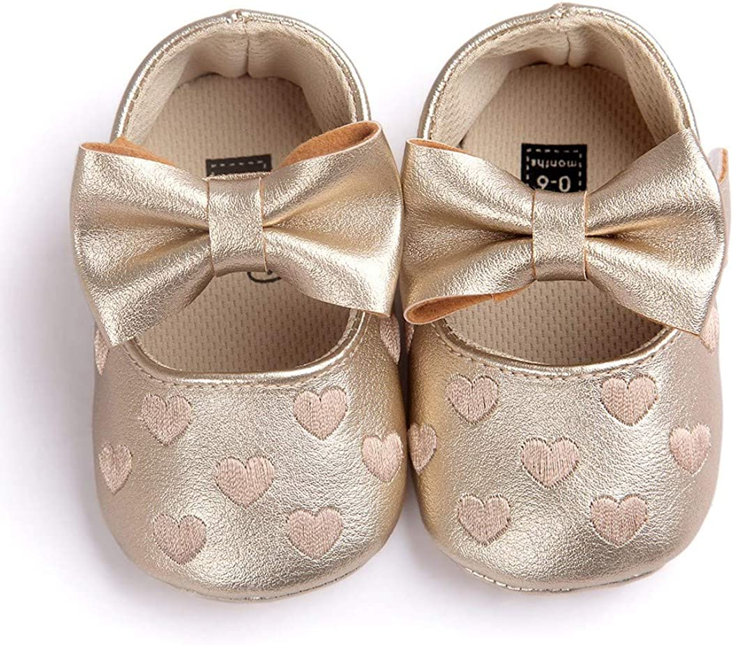 Soft Soled Toddler Shoes with Bowknot Ballet Slippers for Infant//Newborn//First-Walkers Bebila Baby Girls Mary Jane Flats