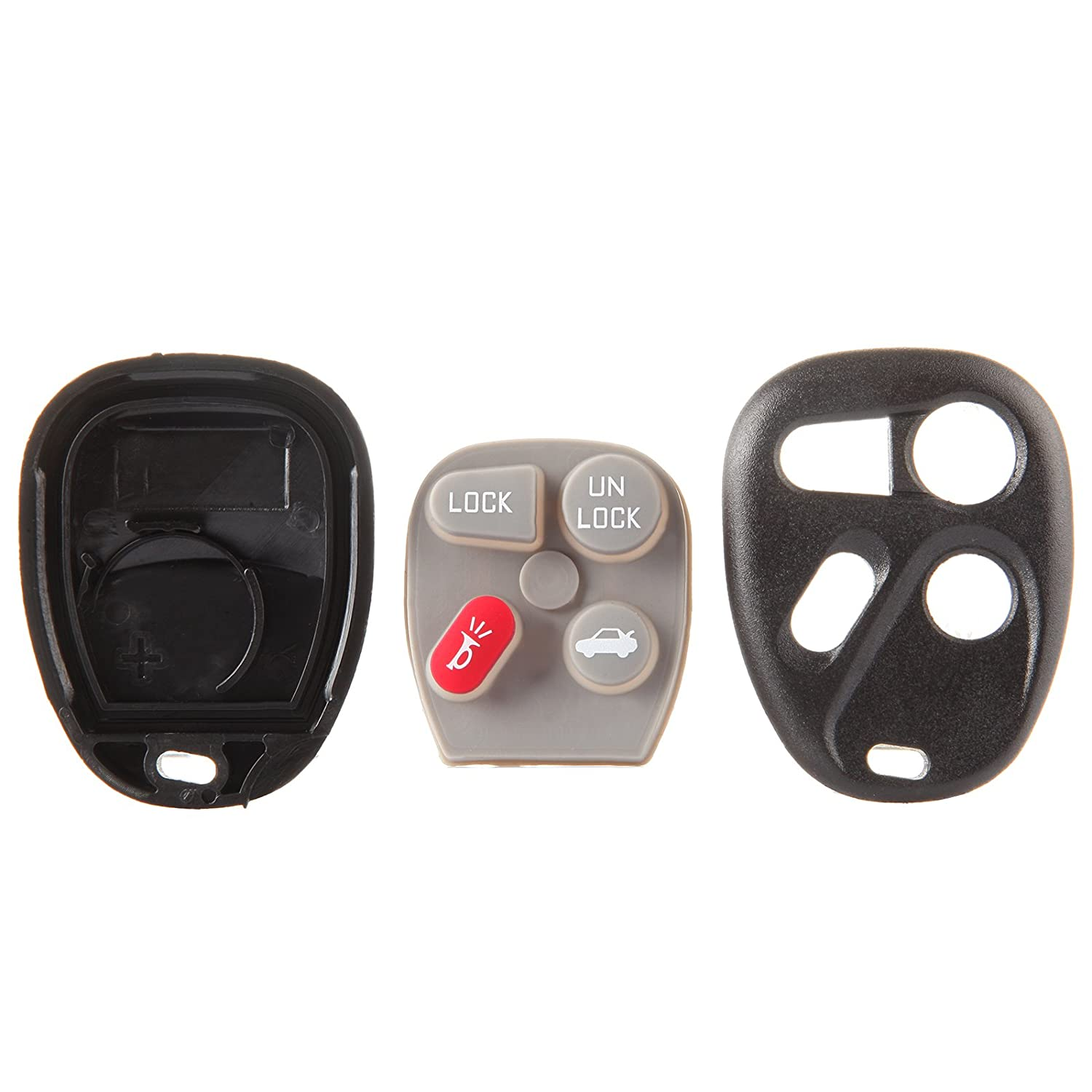 ECCPP 2PCS 4 Buttons Keyless Entry Remote Control Car Key Fob Shell Case Replacement for Cadillac Chevy Buick GMC KOBLEAR1XT BHBU0503A1923