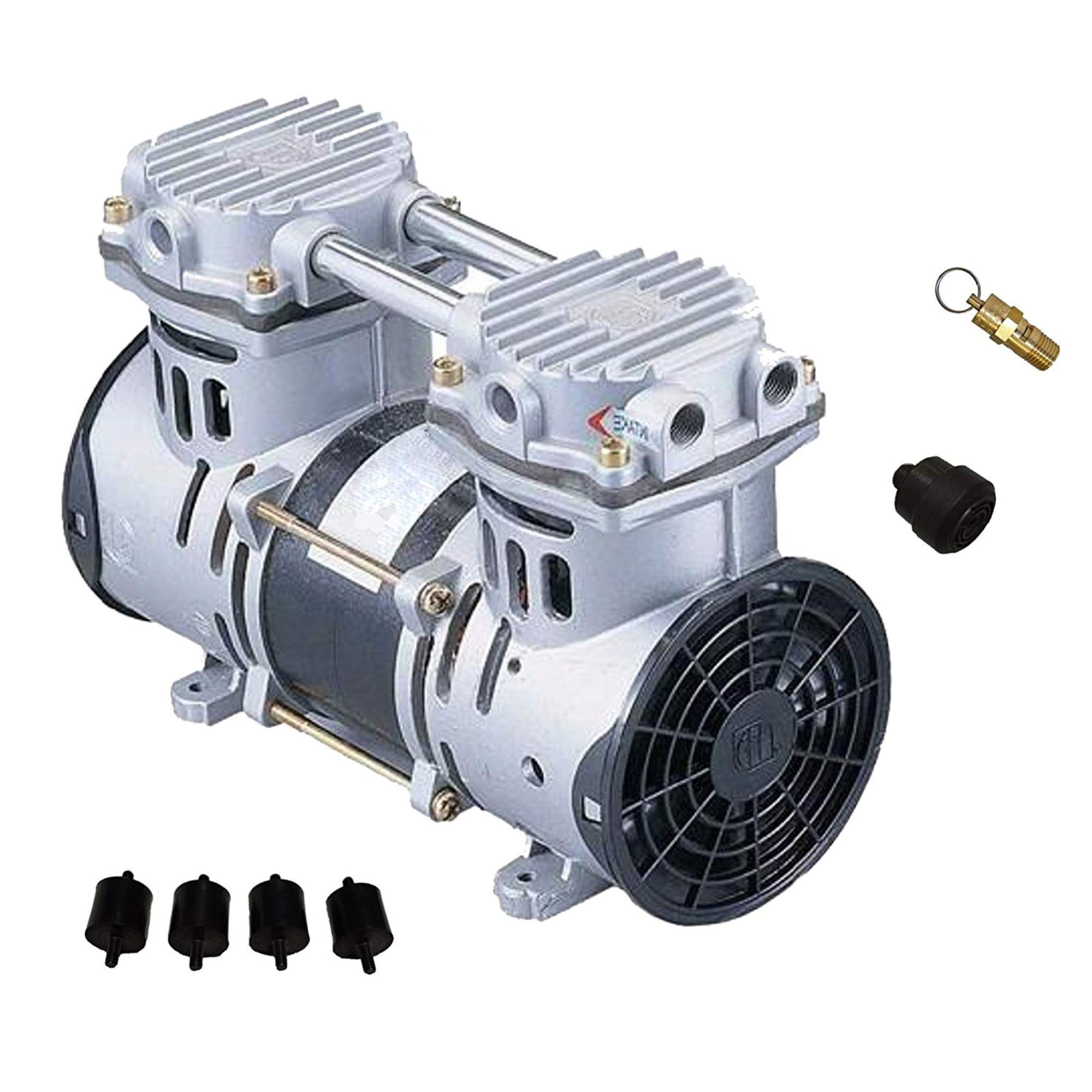 HALF OFF PONDS Patriot Pond Pro 3.9 Cubic Feet per Minute Deep Water Subsurface Air & Aeration Rocking Piston Air Compressor for Deep Water Subsurface Aeration of Ponds and Lakes by HALF OFF PONDS