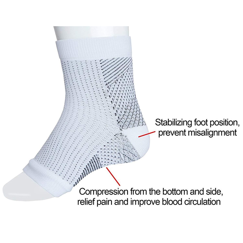 2 Paar Fersensporn Bandage Fu/ßbandage Premium Kompressionssocken f/ür M/änner /& Frauen Kn/öchelschmerzen und Schwellungen Schmerzlinderung bei Plantarfasziitis