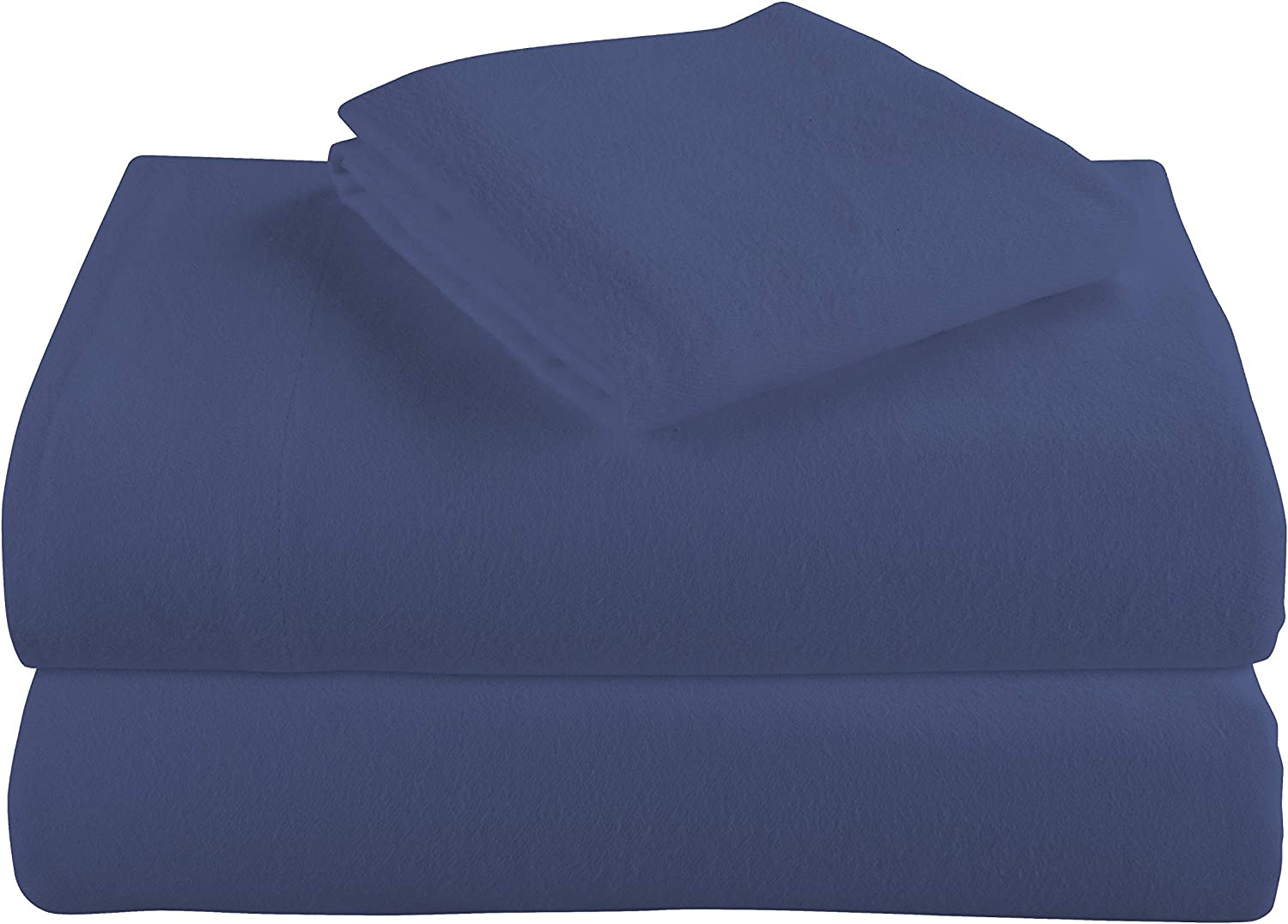 Cotton Turkish Flannel Sheets by Morgan Home - 100% Brushed Cotton for Supreme Comfort - Deep Pockets - Warm and Cozy, Great for All Seasons (Blue, Queen)