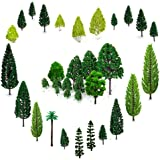 OrgMemory 29pcs Mixed Model Trees 1.5-6 inch(4 -16 cm), Ho Scale Trees, Diorama Supplies, Model Train Scenery, Fake Trees for Projects, Woodland Scenics with No Stands