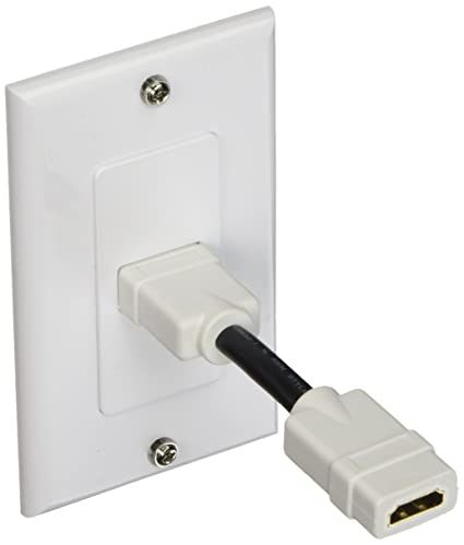 amazon com monoprice 107330 2 piece wall plate with 4 inch built in rh amazon com