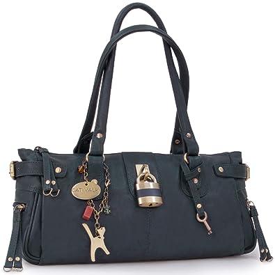 a8da445cf9ca1 Catwalk Collection Handbags - Leder - Umhängetasche Lederhandtasche -  CHANCERY - Blau